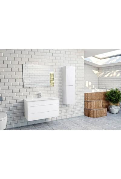 Bagnotti Paradise 100 cm Lake Parlak Beyaz Banyo Dolabı