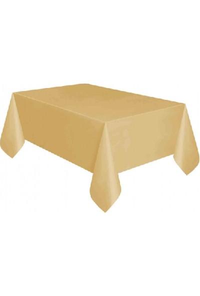 Bursapazarı Roll-Up Masa Örtüsü Plastik ( 1,37 M. x 2,7 M.) Gold / Altın
