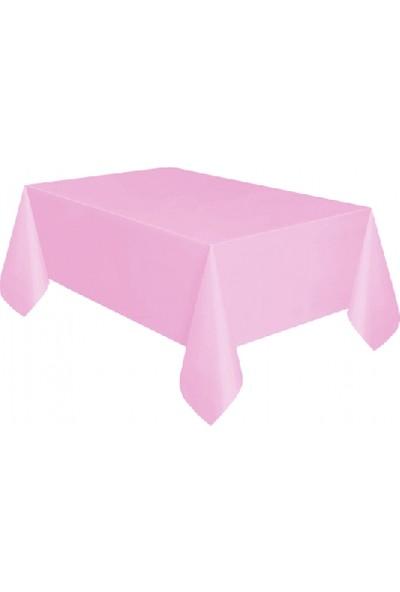 Bursapazarı Roll-Up Masa Örtüsü Plastik ( 1,37 M. x 2,7 M.) Pembe