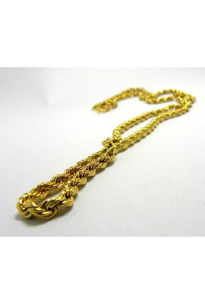 Altın Kaplama Burgu Kolye 22 Ayar - 60 cm