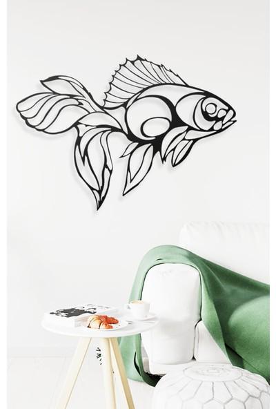 Dekkor Art Golden Fish Metal Duvar Tablosu