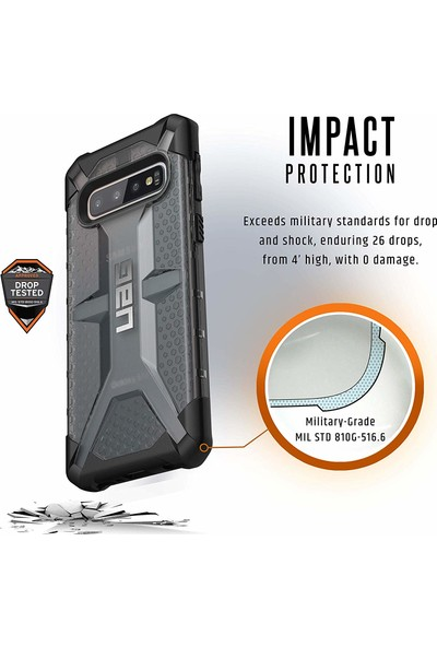 UAG Plasma Samsung Galaxy S10 Kılıf - Koyu Saydam