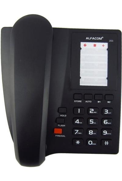 Alfacom Kablolu 203 Masaüstü Siyah 203-Sıyah