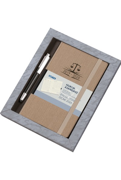 Gıpta S1075 Hukuk Seti 13x21 Günlük Ajanda+Touch Pen Kalem