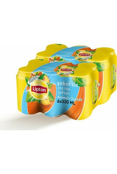 Lipton Ice Tea Light Şeftali Aromalı İçecek Kutu 6X330 ml