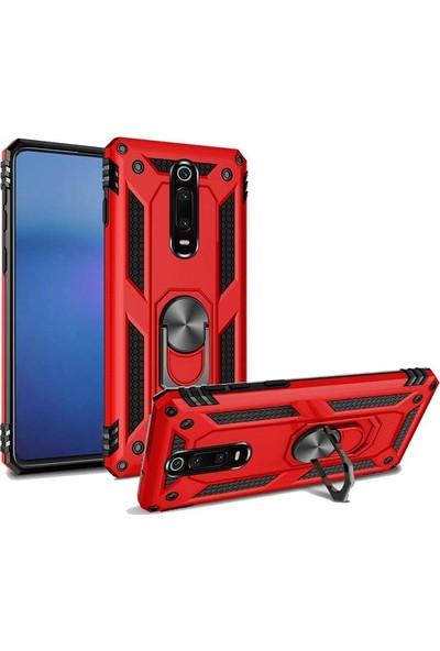 Gpack Xiaomi Redmi K20 Vega Standlı Yüzüklü Mıknatıslı Kılıf Bronz