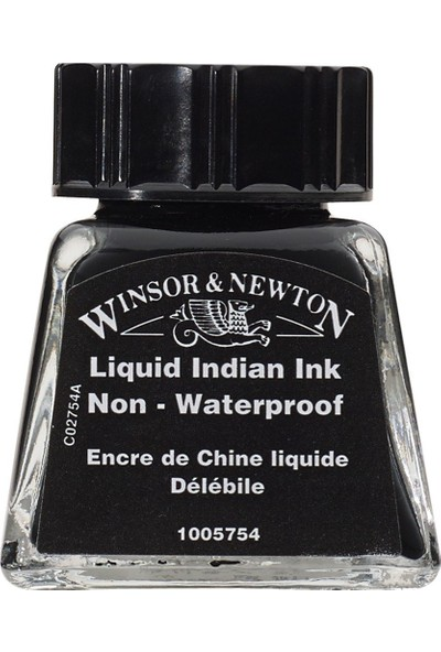Winsor & Newton Drawing Ink Çizim ve Çini Mürekkebi 754 Liquid Indian Ink