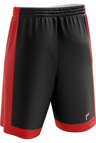 Freysport Basketbol Şortu Siyah Kırmızı