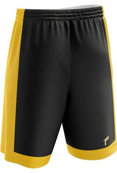 Freysport Basketbol Şortu Siyah Sarı
