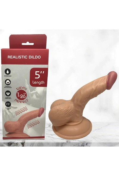 Dr. Love Drlove 13 cm Gerçekçi Vantuzlu Realistik Penis Anal Vajinal Dildo