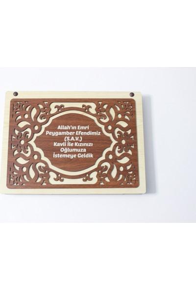 Hayal Sepetim Ahşap Kız Isteme Çikolatası - Kişiye Özel 72'li Madlen
