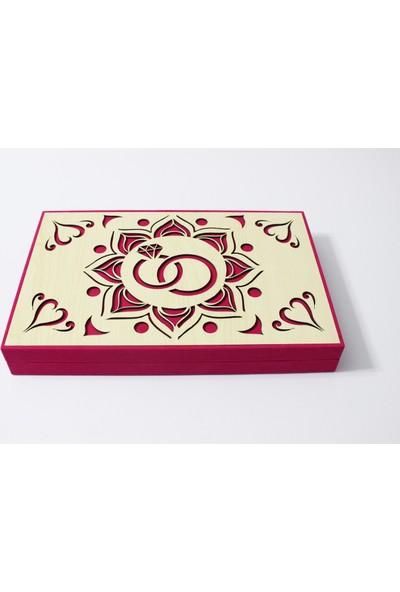 Hayal Sepetim El Yapımı Ahşap Kadife Kutu Kız Isteme Çikolatası - Kişiye Özel 84'lü Madlen