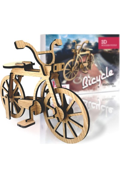 Pershang Bisiklet 14 Parça 3D Ahşap Puzzle