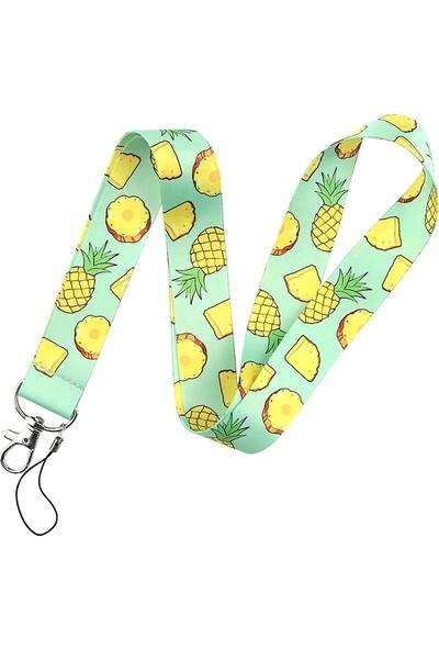 Kürkçü Ananas Desen Boyun Askı Ipi Kart Askı Ipi