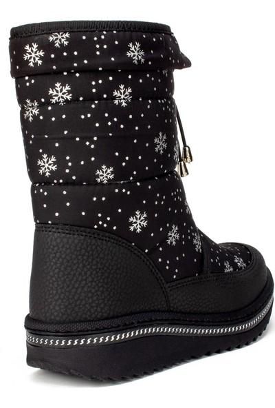 Lepetit Siyah Kürklü Kız Çocuk Bot Ayakkabı (31-35)