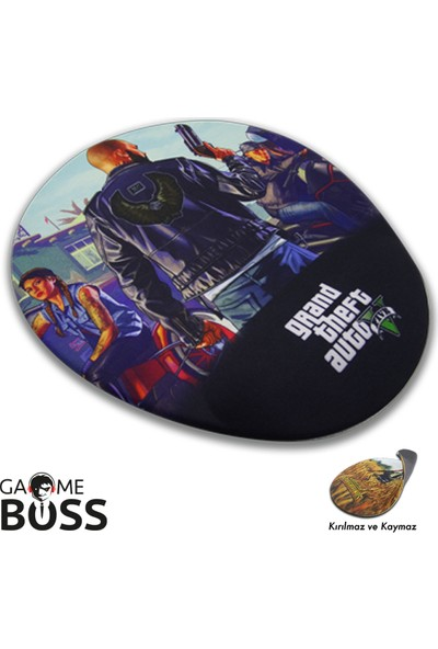 GameBoss Gta V Bilek Destekli Oyuncu Mouse Pad