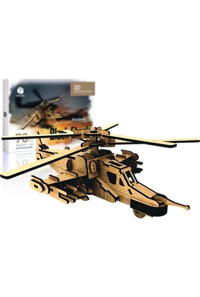 Pershang Kara Köpekbalığı Helikopteri 76 Parça Ahşap Puzzle