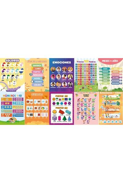 Üze İspanyolca Eğitici Posterler 1. Seri