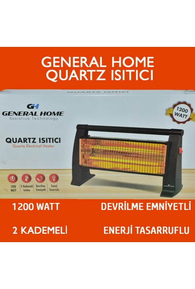 General Home 1200 W Quartz Isıtıcı