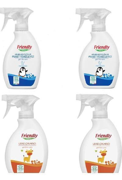 Friendly Organic 2 Adet Leke Çıkarıcı 250 ml + 2 Adet Puset ve Oto Koltuğu Temizleyici 250 ml