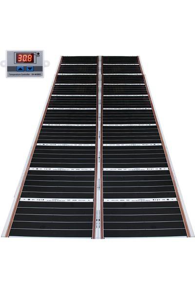 Rexva Xica Ptc-306 Ptc Isı Teknolojili Dijital Termostatlı Halı Altı Karbon Isıtıcı Film - 120 x 250 cm