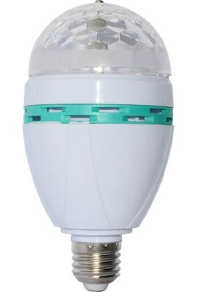 Led Pazarı Disco Ampul LED Işıklı Döner Başlıklı