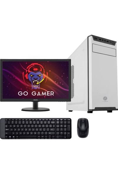 "Go Gamer GW1D Intel Pentium G5400 8GB 1TB + 120GB SSD Freedos 21.5"" Masaüstü Bilgisayar"