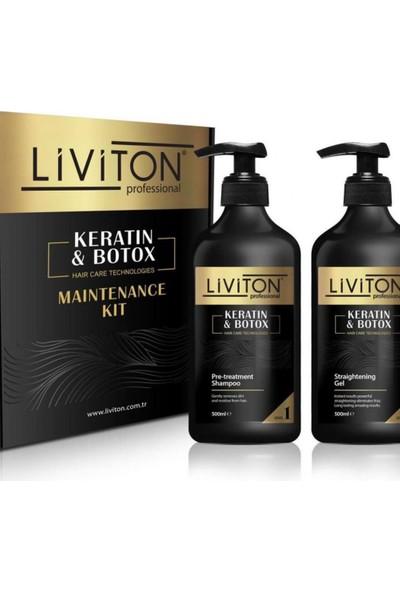Liviton Professional Saç Düzleştirici ve Keratin Bakım Seti 500 ml