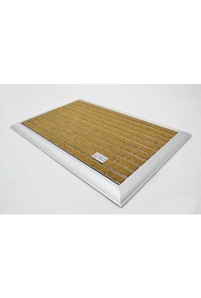 Sermat Alüminyum Çerçeveli Metal Halı Fitilli Kapı Paspası - 40 x 60 cm Koko (Bal Rengi)