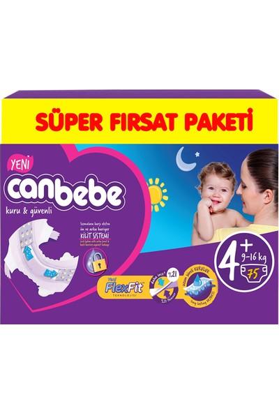 Canbebe Bebek Bezi Paketi No:4+ 9-16 kg 75li