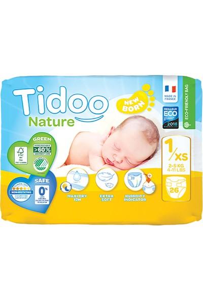 Tidoo Nature Bebek Bezi Yenidoğan 1 Beden Numara 2-5 kg 26 Ekolojik Antialerjik