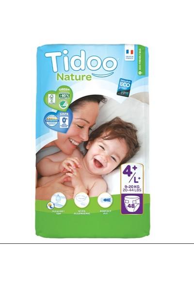 Tidoo Nature Bebek Bezi Jumbo 4+ Beden Numara 9-20 kg 48 Ekolojik Antialerjik Jumbo Paket