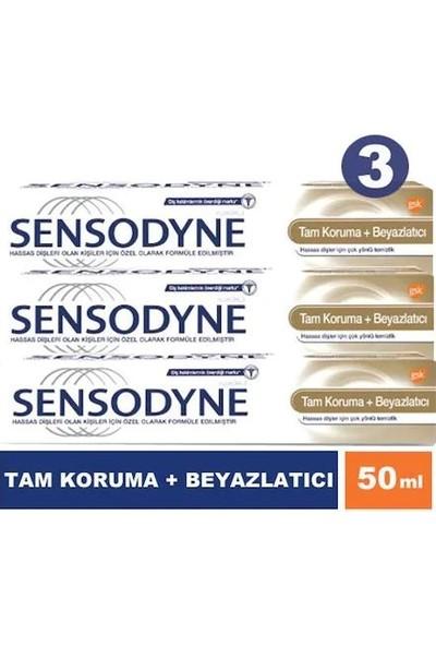 Sensodyne Tam Koruma + Beyazlatıcı 50 ml 3 Adet Diş Macunu