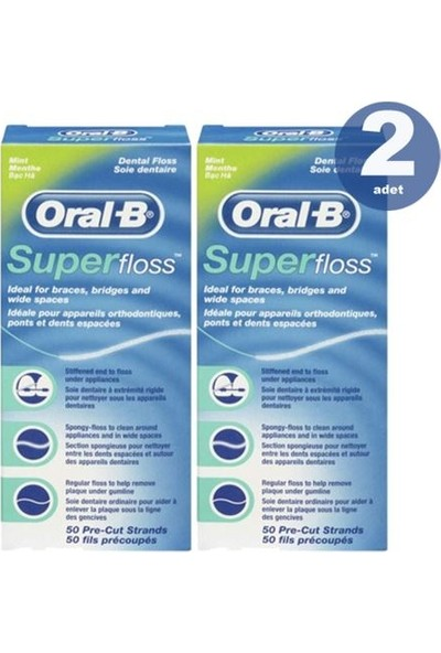 Oral B Super Floss 50 m 2 Adet Diş İpi
