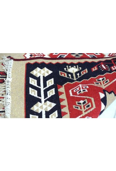 Başaran Tekstil Makine Dokuması Kaliteli Uşak Antik Kilimi 100 x 200 cm