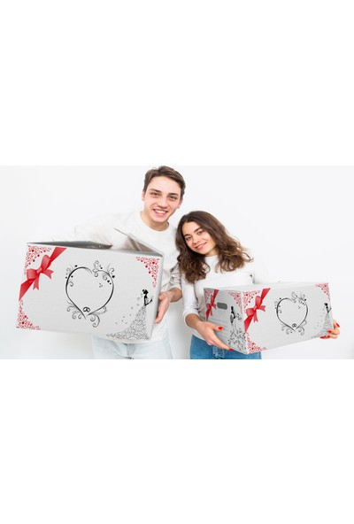 Turkuaz Beyaz Çeyiz Kolisi 58 x 38 x 30 cm 10 Adet