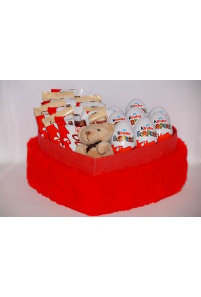 Filika Store Kırmızı Kalpli Büyük Kutuda Bueno+Kinder