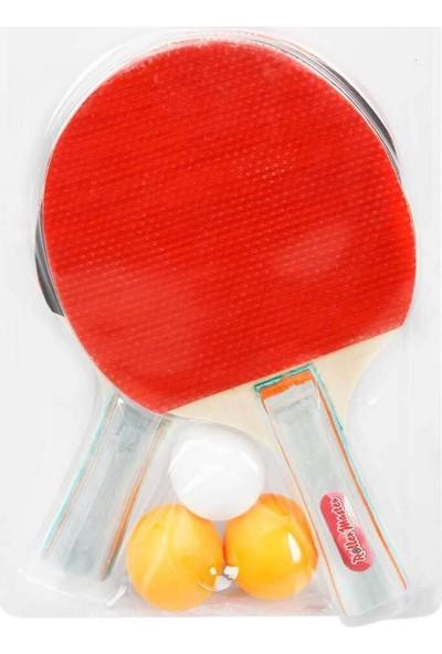 Birlik Oyuncak Birlik Masa Tenisi Seti 2 Masa Tenisi Raketi + 3 Pinpon Topu