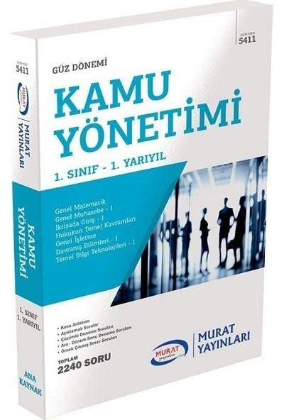 Murat Yayınları Açıköğretim 5411 1. Sınıf Güz Kamu Yönetimi Konu Anlatımlı Soru Bankası