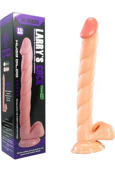 X - Men Larry Yeni Seri 32 cm Damarlı Realistik Penis