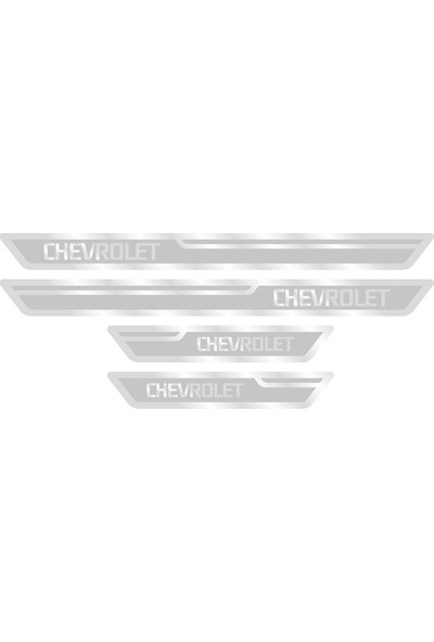 Chevrolet Gümüş Kapı Eşiği, Kapı Karşılama 4'lü Set
