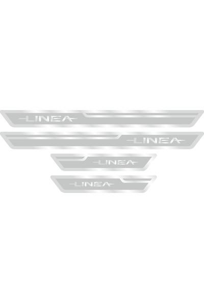 Fiat Linea Gümüş Kapı Eşiği, Kapı Karşılama 4'lü Set