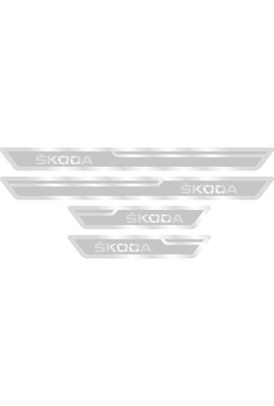 Skoda Gümüş Kapı Eşiği, Kapı Karşılama 4'lü Set