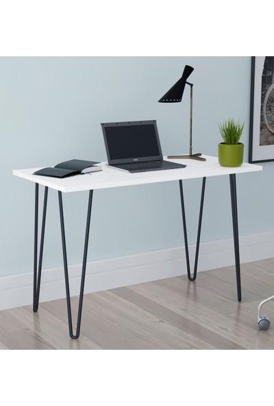 PlatinReyon Demir Ayaklı Çalışma ve Bilgisayar Masası - Beyaz