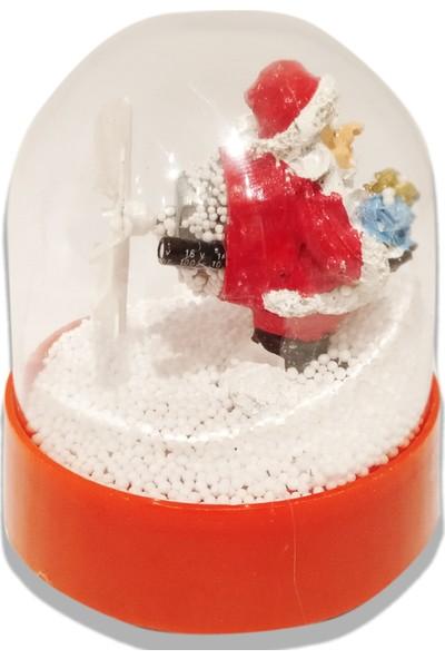 Nuvo Toys Pilli Kar Püskürten Müzikli Kar Küresi Noel Baba 9.5 x 11.5 cm