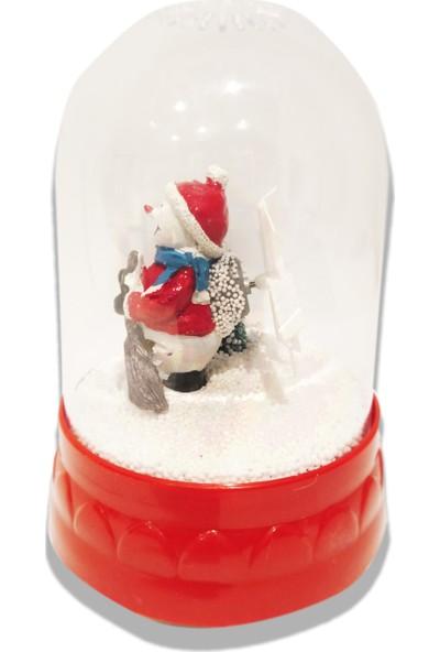 Nuvo Toys Pilli Kurmalı Kar Püskürten Işıklı Müzikli Kar Küre Kardan Adam