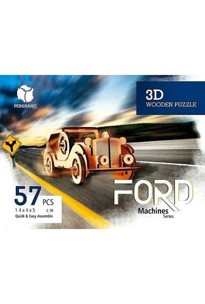 Pershang Ford 3D Ahşap 57 Parça Puzzle
