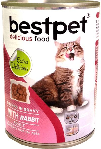 Bestpet Tavşan Etli Yetişkin Kedi Konservesi 415 gr 40 Adet