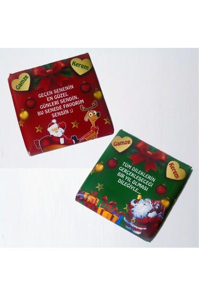 Tonti Ponti Mini Kutulu Kare Yılbaşı Çikolatası
