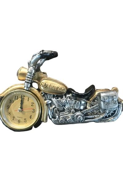 Alpin Motor Saat Masa Saati Dekoratif Ofis Saat Motorcu Motorcu Motor Saat Dekoratif Masaüstü Aksesuar